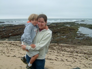 half moon bay with Louis 006